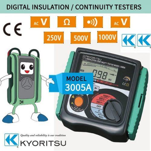 Đồng hồ đo điện trở cách điện Kyoritsu 3005A