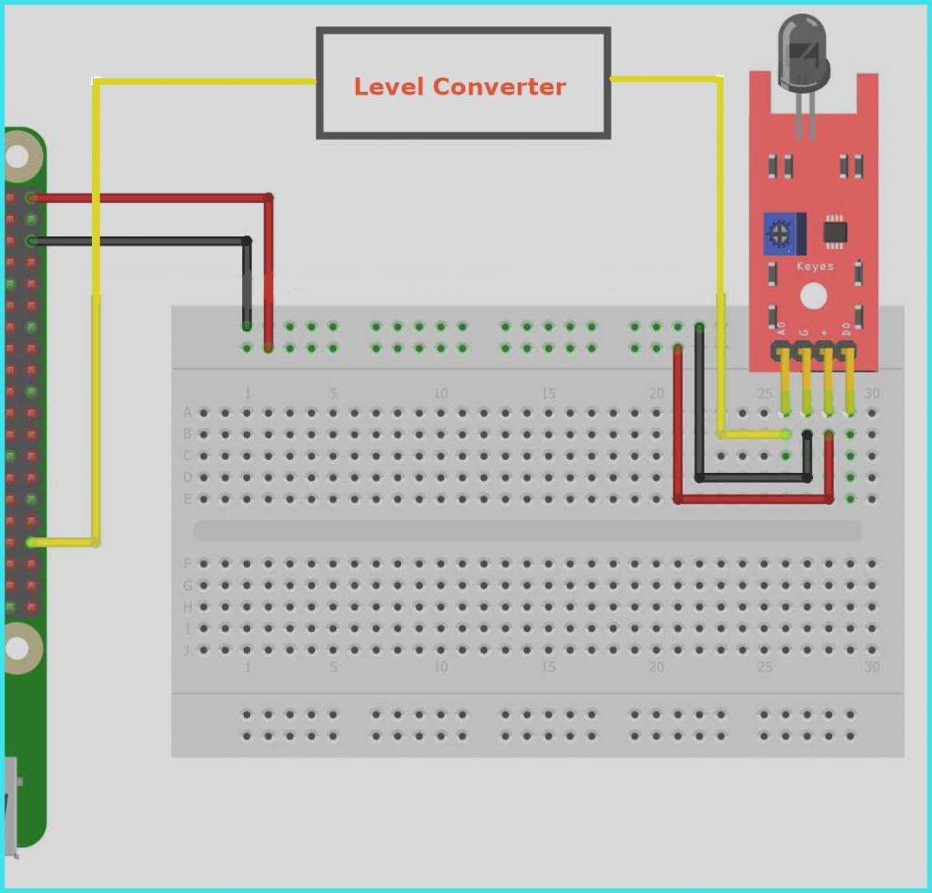 Kết nối cảm biến IR với Raspberry Pi
